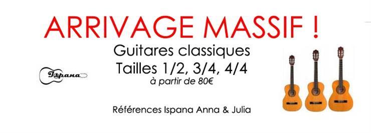 Guitares Classiques 1/2, 3/4 & 4/4