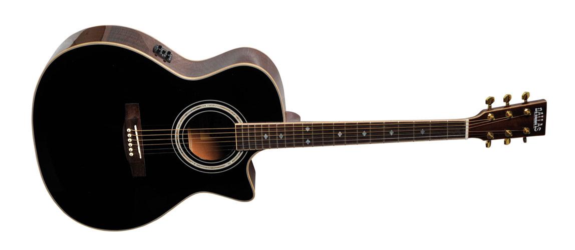 guitare folk western dallas dallas f740ceqbkt achat vente medium musique music leader rouen. Black Bedroom Furniture Sets. Home Design Ideas