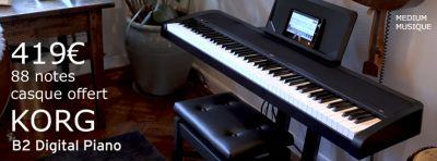 Claviers & Pianos KORG B2 NOIR ( REMPLACE LE MODELE B1 )