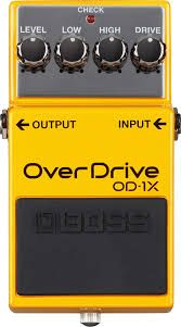Effets Instruments Boss overdrive OD1X