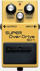 Effets Instruments Boss super overdrive SP1