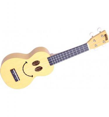 Instruments à cordes Mahalo U-Smile Crème Ukulélé + Housse