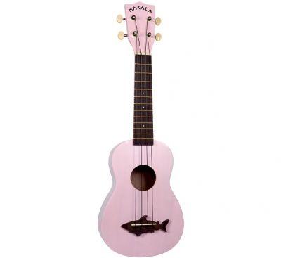 Instruments à cordes Kala MKSS Soprano Shark Pink