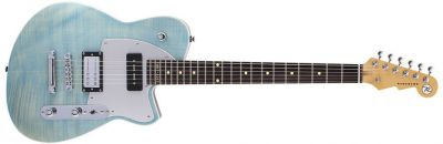 Guitare Electrique REVEREND DOUBLE AGENT OG 20TH ANNIVERSARY SKY BLUE FLAME MAPLE