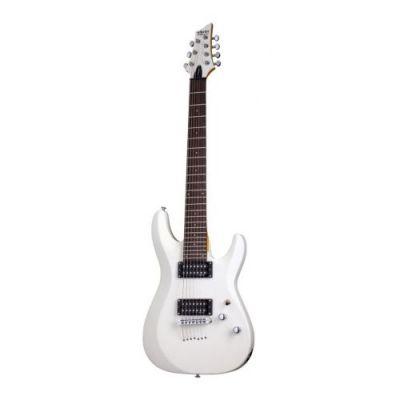 Guitare Electrique Schecter C-7 Deluxe Satin White