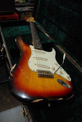 Guitare Electrique MAYBACH STRADOVARI S61 3T SUNBURST AGED